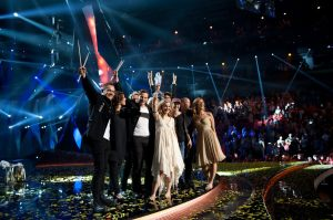 Emmelie de Forest with Only Teardrops wins Eurovision 2013 for Denmark