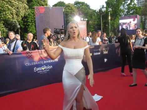 Anja Nissen from Denmark (and Australia!) at the Red Carpet of the 2017 Eurovision Song Contest in Kyiv