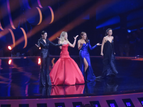 The four hosts from the semi final 1 jury show - Lisbon 2018 Eurovision Song Contest