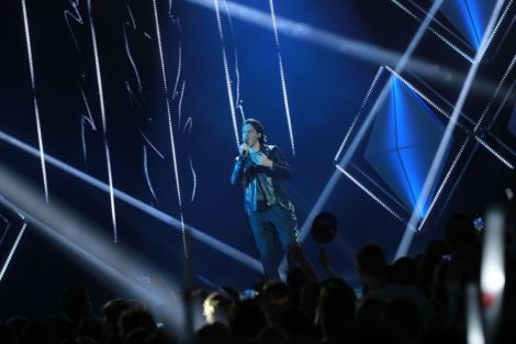 Victor Crone performing Storm at Eesti Laul 2019 Grand Final - Estonia Eurovision Song Contest