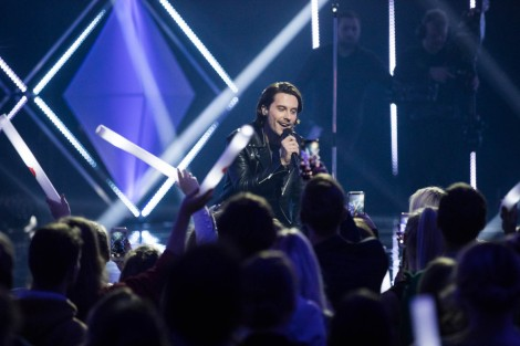 Victor Crone performing Storm at Eesti Laul 2019 semi final 1 in Tartu