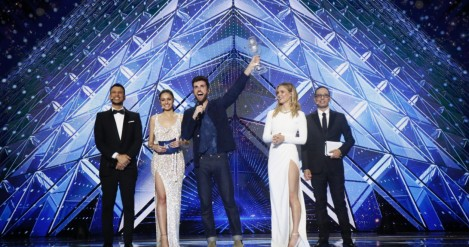 Duncan Laurence with Arcade takes the Eurovision Song Contest trophy for Netherlands - Grand Final Review Tel Aviv 2019