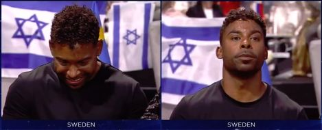 Sweden's John Lundvik - before and after he learnt his televote score - Eurovision Song Contest 2019 Tel Aviv