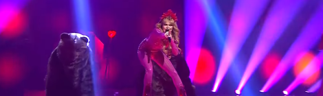 Erika Vikman with Cicciolina at UMK 2020 - National Final Injustices