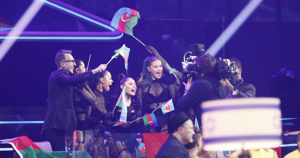 Rotterdam 2021 Eurovision Song Contest Semi Final 1 Review - Azerbaijan celebrate their qualification for the grand final
